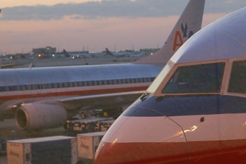 American Airlines planes at Chicago Ohare