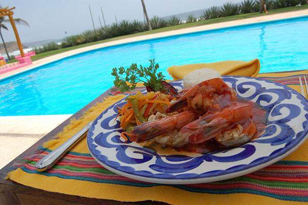 Hot sause grilled shrimp / Camarones a la plancha a la diabla