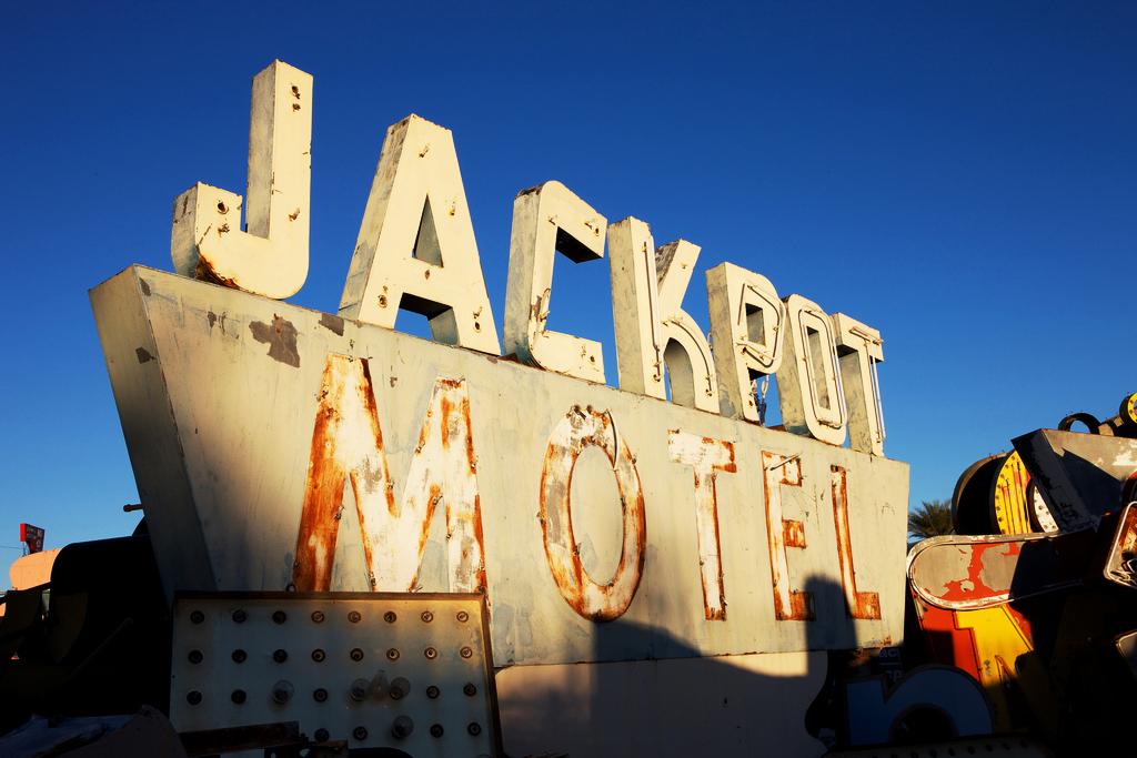 jackpot motel neon sign