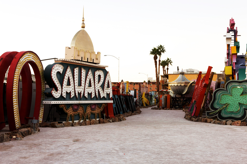 sahara neon sign