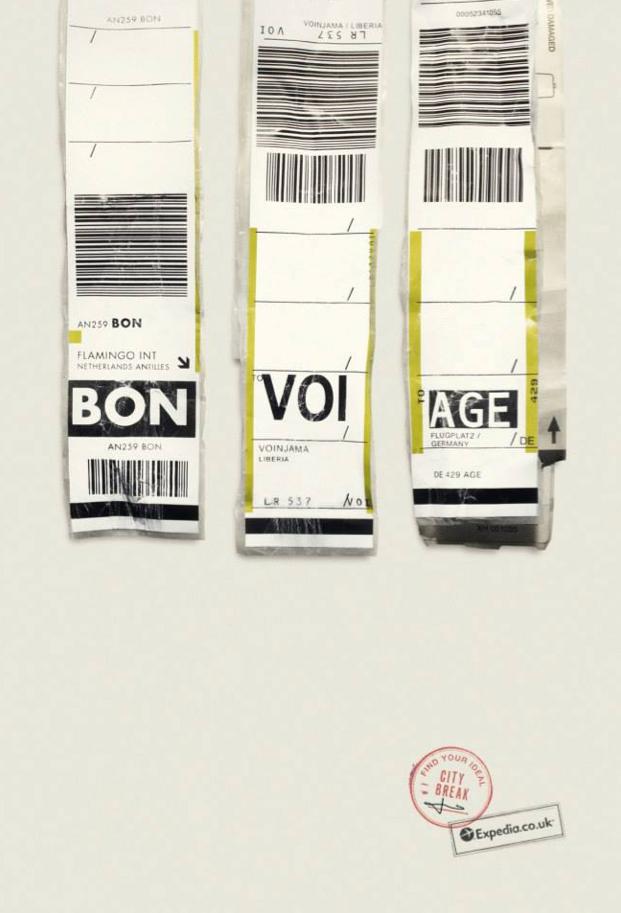 Expedia Ad Campaign Airports codes BON VOI AGE