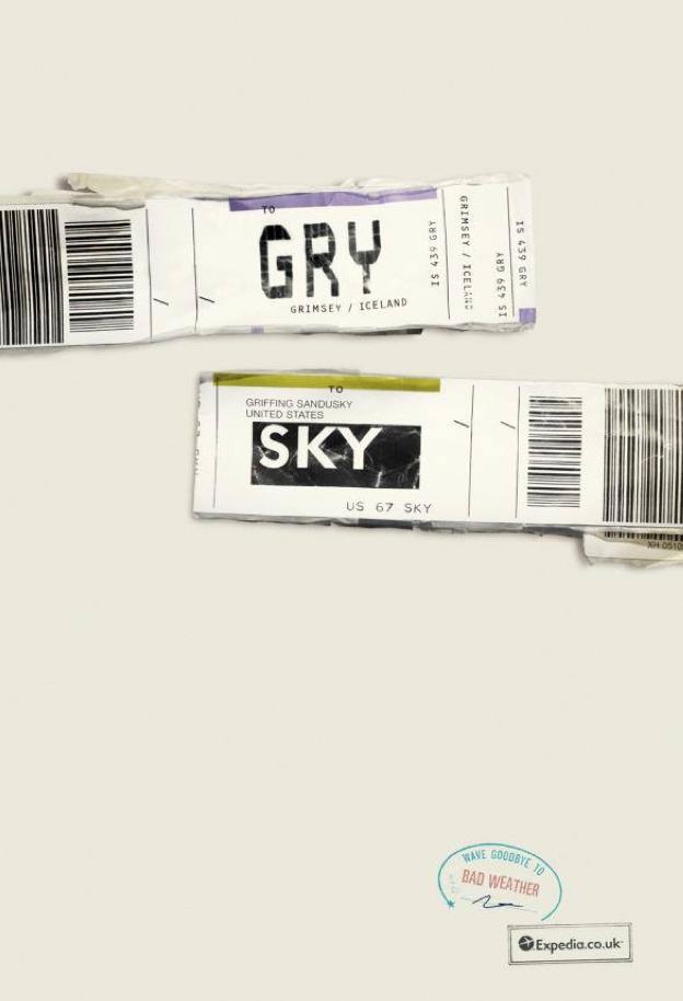 Expedia Ad Campaign Airports codes  GRY SKY