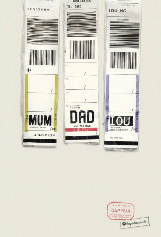 Expedia Ad Campaign Airports codes MUM DAD TOU