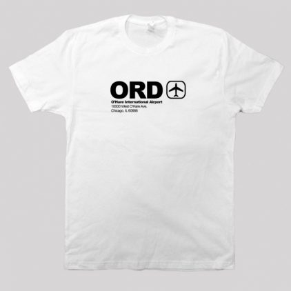 Chicago Ohare t-shirt white