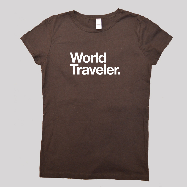 world traveler shirt brown