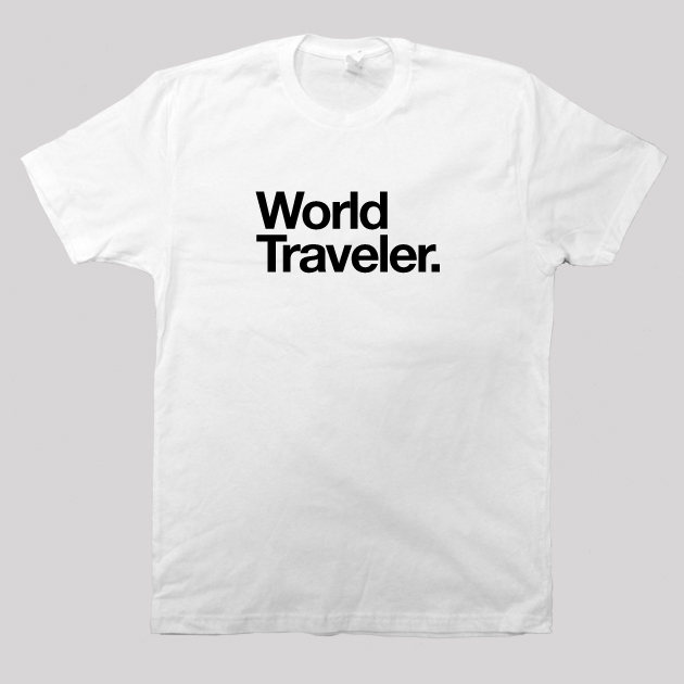 world traveler shirt white