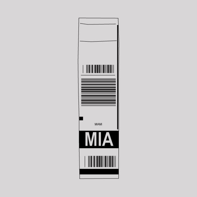 Miami airport tag