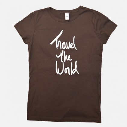 Travel the World Shirt brown