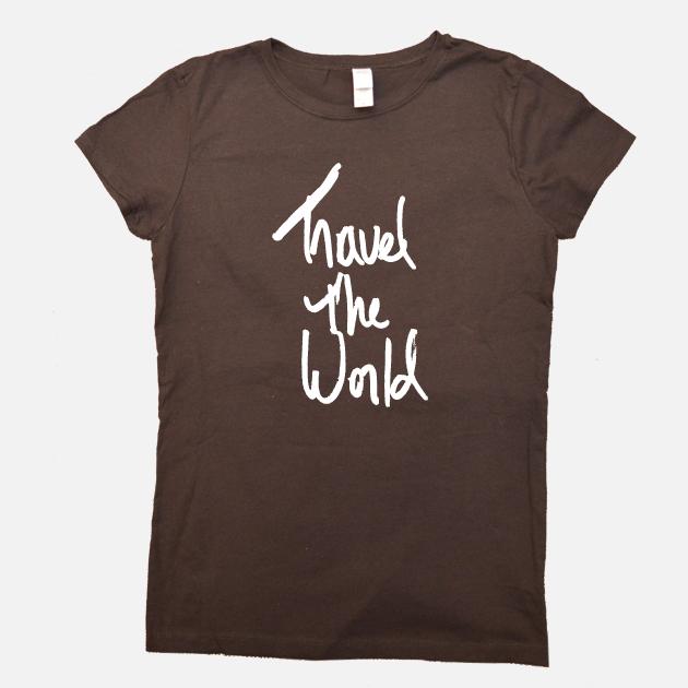 Travel the World Shirt brown