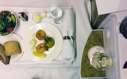 bussines class dinner on emirates