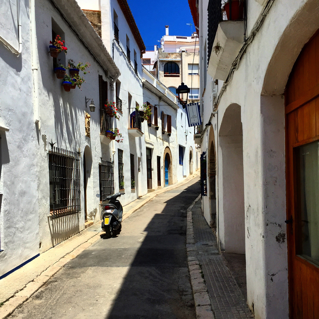 Sitges Spain - small streets