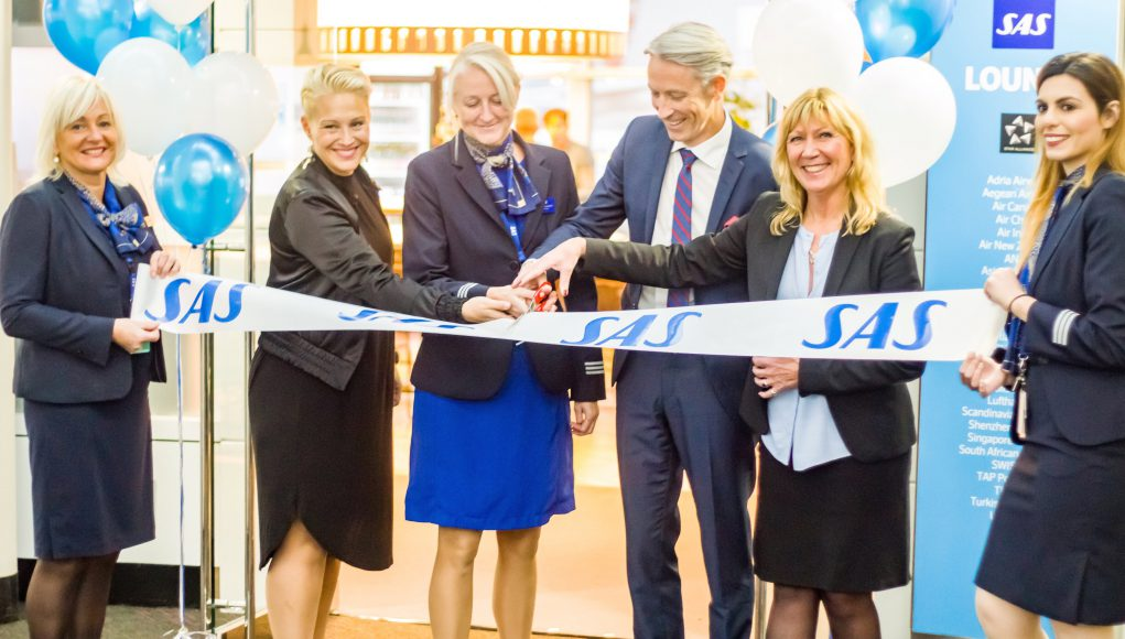 Scandinavian Airlines Renovated Lounge at O'Hare Airport