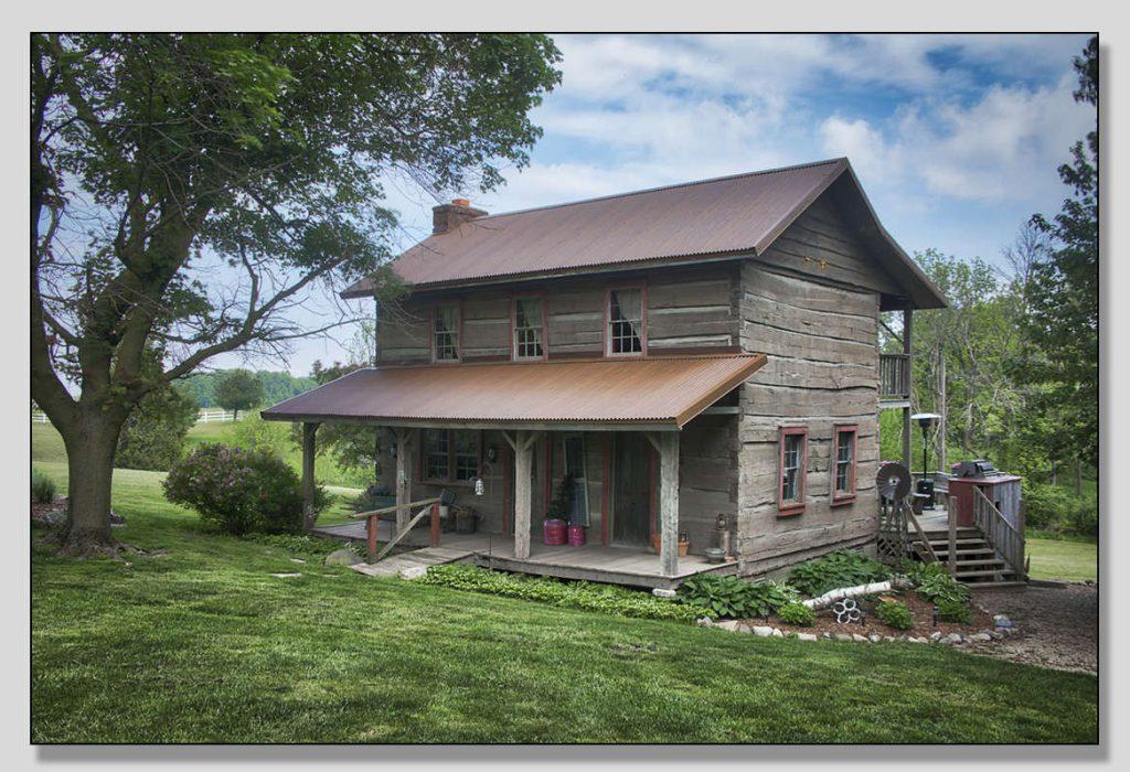 Heritage Farms Vintage 1850 Log Cabin