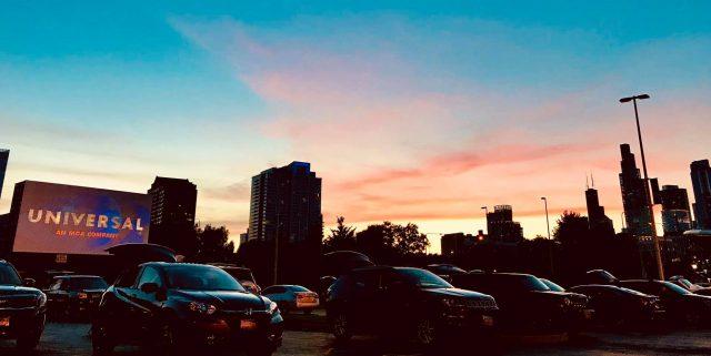 Drive-in movie Soldier Field Chicago