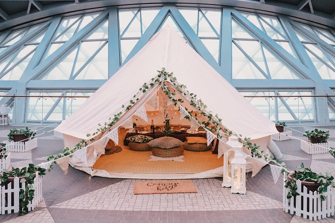 Glamping Jewel Changi Airport Singapore