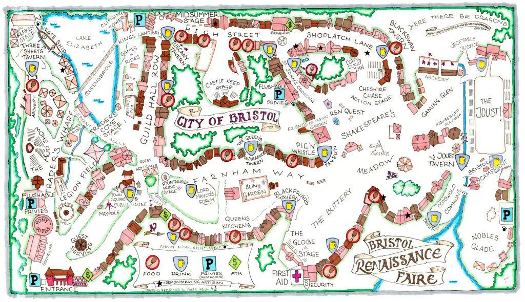 City of Bristol Renaissance Faire Map